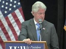 Bill Clinton Campaigns for Wife in Cary