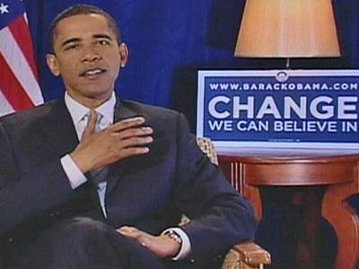 Democratic presidential candidate Barack Obama spoke about economic issues and praised the UNC basketball team in a satellite interview with WRAL News on Thursday, May 1, 2008.