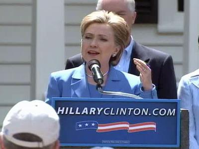 Clinton spoke at campaign events in Cary and Wake Forest on Saturday.