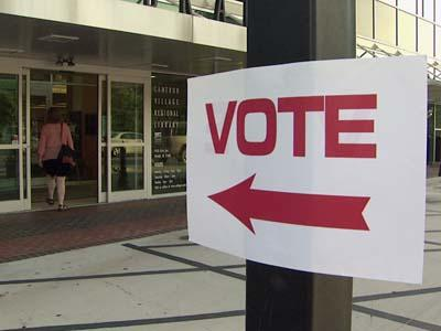Voters headed to the polls at Cameron Village on Tuesday, June 24, 2008.