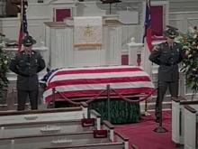 Jesse Helms lies in repose