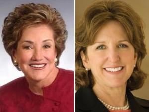 Incumbent U.S. Sen. Elizabeth Dole, R-N.C., left, and Democratic challenger state Sen. Kay Hagan, D-Guilford