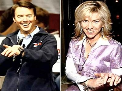 Former Democratic presidential candidate John Edwards and Rielle Hunter, a campaign worker with whom he has admitted to having an affair.
