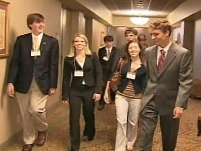 Teens from North Carolina say they hope to inject a youthful image into the Republican Party.