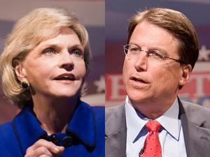 Lt. Gov. Beverly Perdue and Charlotte Mayor Pat McCrory
