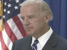 Web only: Joe Biden talks to WRAL News