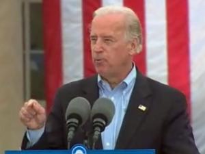 Democratic vice-presidential candidate Sen. Joe Biden speaks at a rally in Greensboro on Saturday, Sept. 27, 2008.