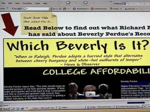Richard Moore's anti-Perdue Web site used by Republicans