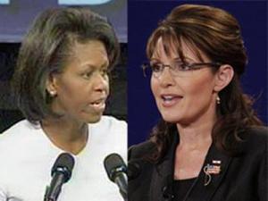 Michelle Obama, Sarah Palin