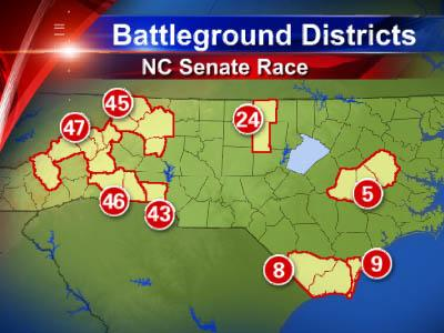 Eight tight races could decide which party controls the state Senate.