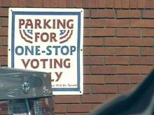 Parking tight at Fayetteville polling site