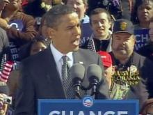 Web Only: Obama leads rally in Raleigh