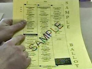 Sample ballot in Election 2008