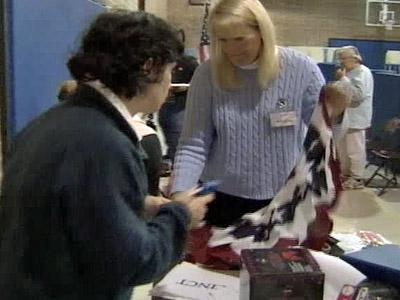 Wake County precinct workers prepare for Election Day.