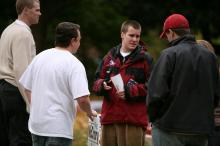Rain didn't keep Raleigh voters from the polls on Nov. 4, 2008.