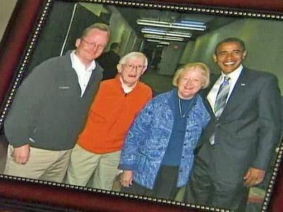 Robert Lane Gibbs with his parents and President-elect Barack Obama.