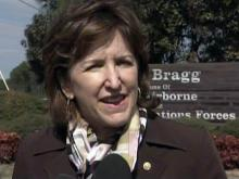 U.S. Sen. Kay Hagan at Fort Bragg