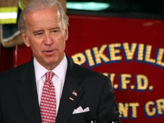 Vice President Joe Biden highlights what the Recovery Act is doing to help rural fire departments at the Pleasant Grove Volunteer Fire Station in Pikeville on Wednesday, April 1, 2009.