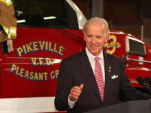 Vice President Joe Biden visited Duplin and Wayne counties Wednesday, April 1, 2009, to demonstrate how the federal economic stimulus package is benefiting rural America.
