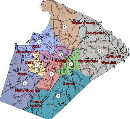 Wake County Board of Education districts