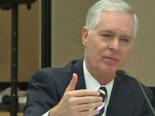 Former Gov. Mike Easley answered questions from the State Board of Elections on Wednesday, Oct. 28, 2009.