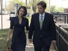 Ruffin Poole and wife walk to courthouse