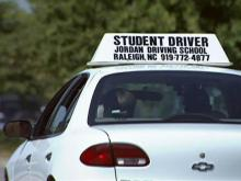 Student driver, driver's education class