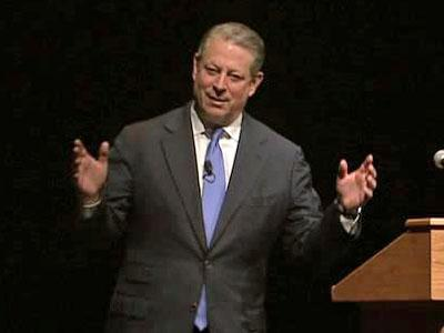 Al Gore during a lecture at Duke University on April 8, 2010.