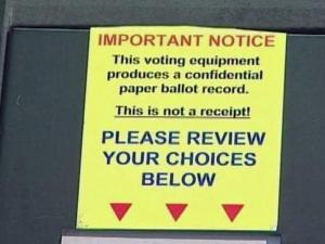 Touch-screen voting machines in use in some counties prompted complaints to the State Board of Elections.