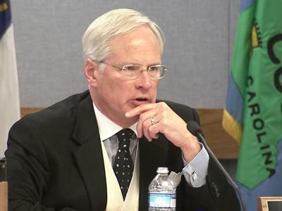 Former Raleigh Mayor Paul Coble was elected chairman of the Wake County Board of Commissioners at a meeting Dec. 6, 2010.