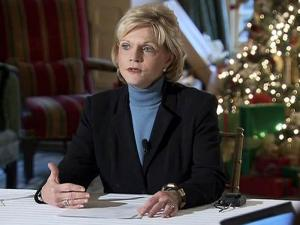 Gov. Beverly Perdue meets with reporters at the Governor's Mansion on Dec. 16, 2010, to review the past year and discuss her priorities for 2011.