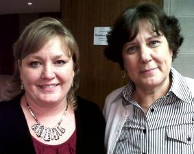 NC House Leg. Asst Dir. Dianne Russell (L) just finished training new LA Kathy Voss.