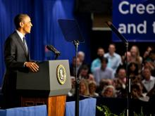 President Obama speaks at Cree