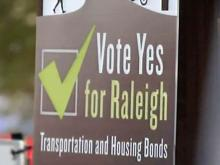 Supporters of two bond issues on the Raleigh ballot say the transportation and housing improvements the bonds would pay for are needed to maintain the city's quality of life.