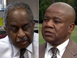 Durham Mayor Bill Bell, left, and Rev. Sylvester Williams