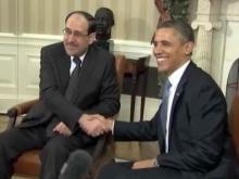 Obama with Nouri al-Maliki