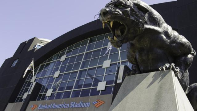 Bank of America Stadium in Charlotte is home to the Carolina Panthers.