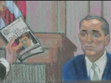 Sketch of Andrew Young on witness stand