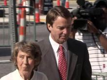 John Edwards with mother
