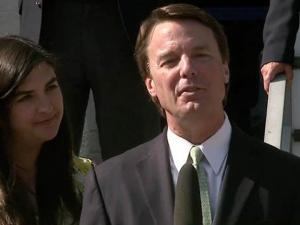 John Edwards makes a brief statement outside the Greensboro federal courthouse on May 31, 2012, after a jury acquitted him on one camapign finance fraud charge and a mistrial was declared on five other charges against him