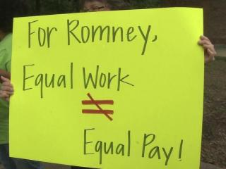 On Hillsborough Street, Democrats blasted Mitt Romney for the GOP stance on the equal-pay bill.