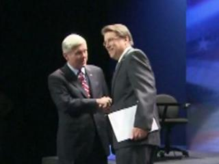 Democrat Walter Dalton and Republican Pat McCrory found some common ground, and familiar points of disagreement, in their final debate.