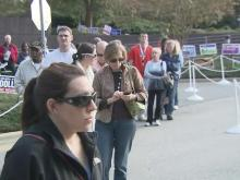 Voters lined up to cast ballots Saturday