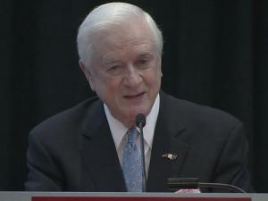 Former Gov. Jim Hunt, chairman of the Institute for Emerging Issues at North Carolina State University