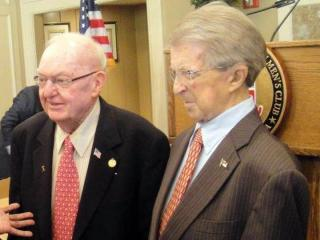Congressman Howard Coble, left, with former Gov. Jim Holshouser