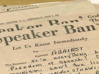 NC Speaker Ban Law