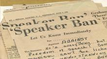 IMAGE: Digital collection examines NC's politically charged Speaker Ban Law