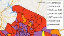 IMAGE: Precinct map shows Wake voting patterns