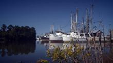 Fishing trawlers in Swan Quarter