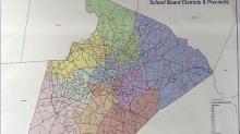 Wake school board map